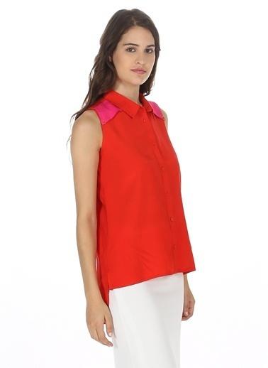 Asymmetry Kolsuz Bluz Kırmızı